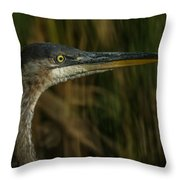Great Blue Profile Throw Pillow