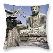 Great Buddha Of Kamakura 2 - Japan  Throw Pillow