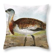 Great Bustard Throw Pillow