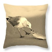 Great Catch With Fish Throw Pillow