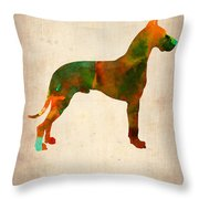 Great Dane Poster Throw Pillow by Naxart Studio