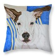 Zane The Dane Throw Pillow