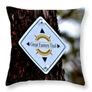 Great Eastern Trail Marker Throw Pillow