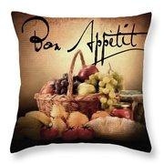Great Eating Throw Pillow by Lourry Legarde