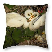 Great Egret 2am-7177 Throw Pillow