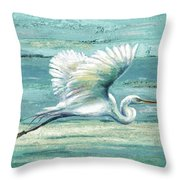 Great Egret I Throw Pillow