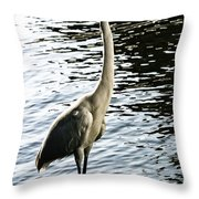 Great Egret No. 2 Throw Pillow