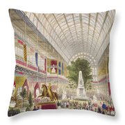 Great Exhibition, 1851 South Transept Throw Pillow