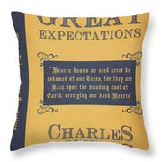 Great Expectations By Charles Dickens Book Cover Poster Art 1 Throw Pillow