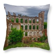 Great Falls Mill Ruins Throw Pillow