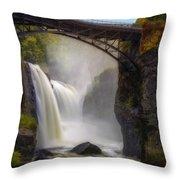 Great Falls Mist Throw Pillow