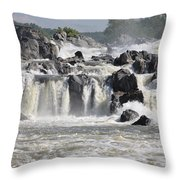 Great Falls Of The Potomac River Throw Pillow
