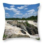 Great Falls On The Potomac Throw Pillow