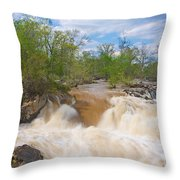 Great Falls White Water #5 Throw Pillow