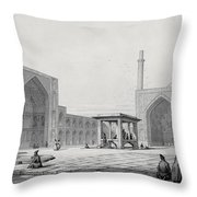 Great Friday Mosque In Isfahan Throw Pillow