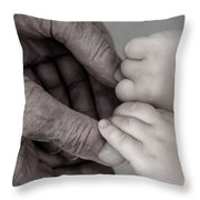 Great Grandpa's Touch Throw Pillow