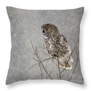Great Grey Hunter Throw Pillow