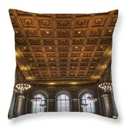 Great Hall St. Louis Central Library Throw Pillow