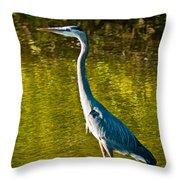 Great Heron Throw Pillow