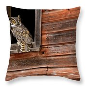 Great Horned Throw Pillow