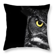 Great Horned Owl Photo Throw Pillow