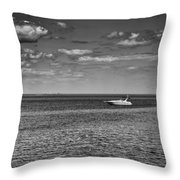 Great Lakes Boating Throw Pillow