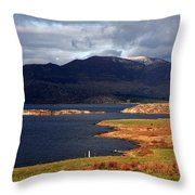 Lakes Of Ireland, Waterville, County Kerry Throw Pillow