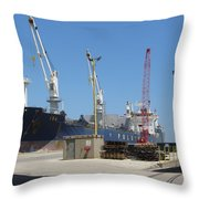 Great Lakes Ship Polsteam 3 Throw Pillow