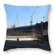 Great Lakes Ship Polsteam 4 Throw Pillow