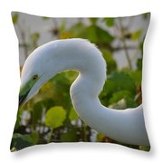 Great Lights Up The Greens Throw Pillow