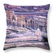 Great Market Hall Budapest Throw Pillow