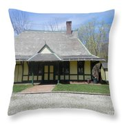 Great Meadows Railroad Station In N J Throw Pillow
