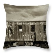 Great Northern Caboose Throw Pillow