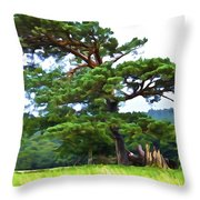 Great Pine Throw Pillow