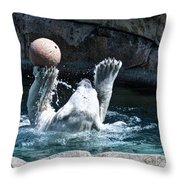 Great Polar Catch By Willie Throw Pillow