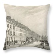 Great Pultney Street, Bath, C.1883 Throw Pillow