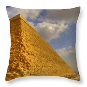 Great Pyramid Painting Throw Pillow