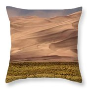 Great Sand Dunes In Colorado Throw Pillow