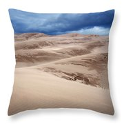 Great Sand Dunes National Park In Colorado Throw Pillow