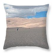 Great Sand Dunes Park Throw Pillow