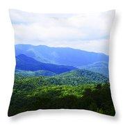 Great Smoky Mountains Throw Pillow by Christi Kraft