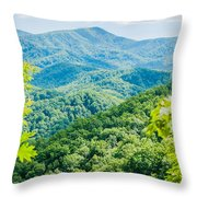 Great Smoky Mountains National Park Near Gatlinburg Tennessee. Throw Pillow