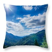 Great Smoky Mountains National Park On North Carolina Tennessee  Throw Pillow