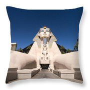 Great Sphinx Of Giza Luxor Resort Las Vegas Throw Pillow