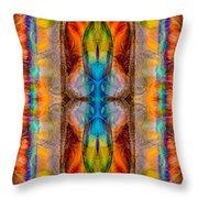 Great Spirit Abstract Pattern Artwork By Omaste Witkowski Throw Pillow