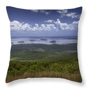 Great View On Top Of Cadilac Mountain Throw Pillow