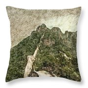 Great Wall 0033 - Colored Photo 2 Sl Throw Pillow