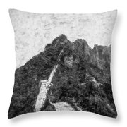 Great Wall 0033 - Graphite Drawing Sl Throw Pillow