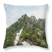 Great Wall 0033 - Light Colored Pencils Sl Throw Pillow