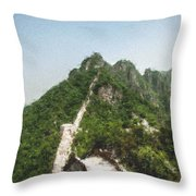 Great Wall 0033 - Pastel Chalk 2 Throw Pillow